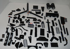 Bulk LEGO LOT BLACK 95 Loose Pieces Castle/Space/Trains/City Parts/Pcs