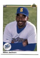 Mike Jackson - 1990 Upper Deck Baseball Trading Card 494 Seattle Mariners