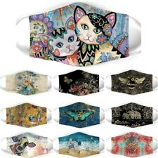 Ice Silk Reusable Face Mask Cover Bee, Cat, Butterfly, Elephant, Cow, Fly,Turtle