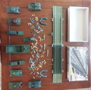Airfix Poly Pontoon Bridge 10 Tanks Vehicles and soldiers bundle Huge Job Lot