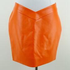 60/% BIG XMAS SALE Vintage 1980s Grape Purple Faux Leather Minimal High Waist Lined Pencil Knee Length Skirt Bottom Sz 22W3X Plus Size