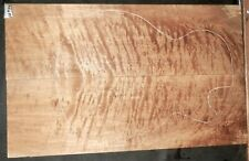 Flame Curly Maple Wood 10726 Luthier Solid Body Guitar Top Set 23 x 14.5 x .500
