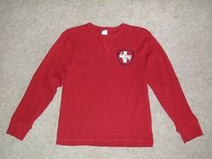 "GYMBOREE ""Alpine Patrol"" St. Bernard Waffle Knit Thermal Shirt Size 8"