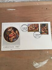 Raphael The Madonna Of The Chair-First Day Cover -Christmas 1967