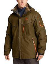 NEW Salomon Men's Cadabra Insulated Coat Winter Jacket, Large, Bayou Green