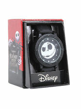 Disney The Nightmare Before Christmas Jack Face BOLT Wrist Watch Rubber Band NEW