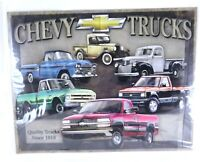 Chevy Trucks Quality Since 1918 Collectable Metal Poster Car Prints Wall Art