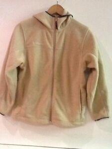 COLUMBIA SPORTSWEAR Youth Full Zip Hooded Fleece Jacket Beige Tan Size 10/12