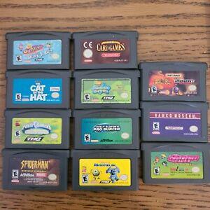 gameboy advance games lot