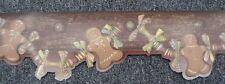 Ginger Bread Men Cottage Style Wallpaper Border Christmas Gingerbread maroon