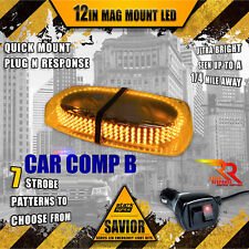 240 LED Light Bar Roof Top Emergency Strobe Dual Rapid Switch Amber Yellow (A)