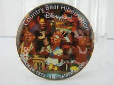 Disney Country Bear Hibernation 1972-2001 Button Pin Good Condition No Pkg Rare!