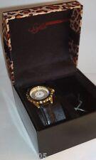 Sofia by Sofia Vergara Ladies' Round Dial Black Leather Strap Watch