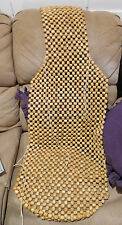 """wooden bead massager seat chair car 52""""; 5 lbs; ties; good condition; used"""