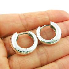 Circle Hoops Sterling 925 Silver Huggie Drop Earrings Gift Boxed