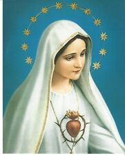 Catholic Print Picture IMMACULATE HEART OF MARY 20x25cm ready to be framed