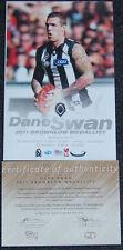 DANE SWAN 2011 AFL BROWNLOW MEDALLIST PRINT COLLINGWOOD MAGPIES CLOKE DIDAK