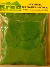Fiocchi extra fini verde chiaro per plastico o diorama gr. 25 - KREA 1204
