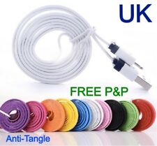 iPhone 4 Flat USB Colour Cable Charger White BUY 1 GET 1 FREE!
