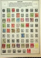 DENMARK: 262 STAMPS ON HARRIS AND HOME MADE ALBUM PAGES. EARLIEST TO 1980s
