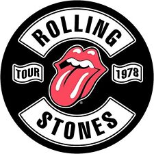 Rolling Stones Tour 1978 sew-on cloth round backpatch  280mm diameter  (rz)