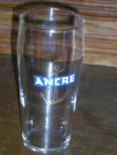 ANCIEN VERRE A BIERE EMAILLE  ANCRE EXPORT BEER ALSACE