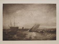 1902 J M W Turner SHEERNESS comme vu de la rive GRAVURE ANTIQUE PRINT