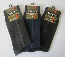 New 3 Pair Pack Men's Fashion Management Dress Socks From Yelete Size 10-13.