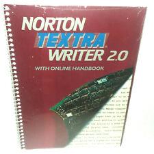 Norton Textra Writer 2.0 Software NWOT Vintage 1990 IBM PC 5 1/4 Disks
