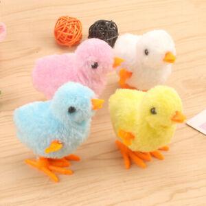 5PCS Plush Wind Up Chicken Kids Educational Toy Clockwork Jumping Walking Chicks