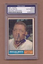 1961 topps WILLIE MAYS auto GIANTS signed PSA/DNA #150 autograph autographed