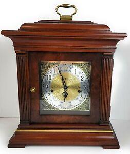 Vintage 1989 Howard Miller 612-436 Triple Chime Mantel Clock w/Key Hermle mvmt🔥