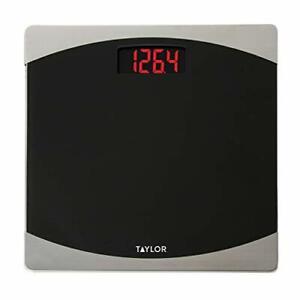 Taylor Precision Products Glass Digital Bath Scale Black/Silver
