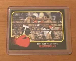 2021 TOPPS MUHAMMAD ALI #63 BOUT GOES DISTANCE - NUMBERED 48/56 BLACK PARALLEL