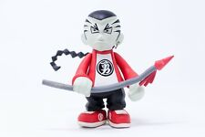 Asian Braided Hair and Spear Figurine Action Figure, Red Clothing Unique