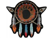 "(C2) NATIVE AMERICAN 4"" x 4"" iron on patch (4964) Dreamcatcher Arrowhead Feather"