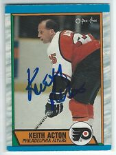 Keith Acton Signed 1989/90 O-Pee-Chee Card #254
