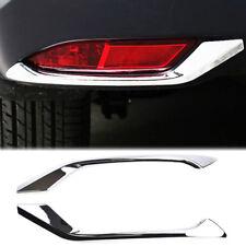 For Honda HR-V Vezel 16-18 Chrome Rear Fog Light Lamp Eyebrow Cover Trim Molding