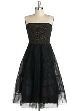 COREY LYNN CALTER black tulle dress Anthropologie modcloth retro stars XS S 4