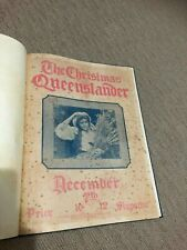 VINTAGE PAPER ADVERTISING MAGAZINE  ORIGINAL 1912 THE CHRISTMAS QUEENSLANDER