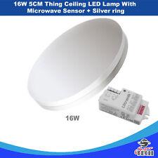 16W 5cm Thin LED Ceiling Lamp 6000K, AC110-240 V with Microwave sensor UK Seller