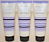 3 Bath & Body Works Lavender Sandalwood Natural oil Shea Moisturizing Cream 8oz