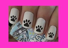 Nail Art Decals Dog Cat Paw Transfers Stickers Wraps Foils Nail Manicure X 40