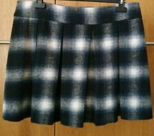 Ladies Wool Effect Winter Check Skirt - Size 16