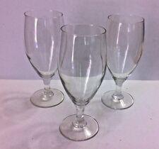 "SET OF 3 - 7 5/8"" ICED TEA 16 oz CLEAR GLASSES"