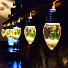 Christmas Tree LED String Fairy Lights 6 Snowflake Bulbs Xmas Home Decoration