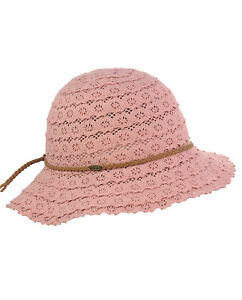 Genuine C.C Children's Brown Braided Trim Vented Beach Crushable CC Sun Hat