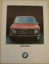 BMW 1800 Saloon 1968-71 Original UK Sales Brochure Pub No 12365 e 10