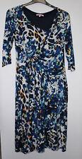 Per Una Blue Mix Animal Print Dress Size 14