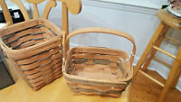 Vintage Longaberger Woven Baskets 1987 1988 Lot of 2 FREE SHIPPING